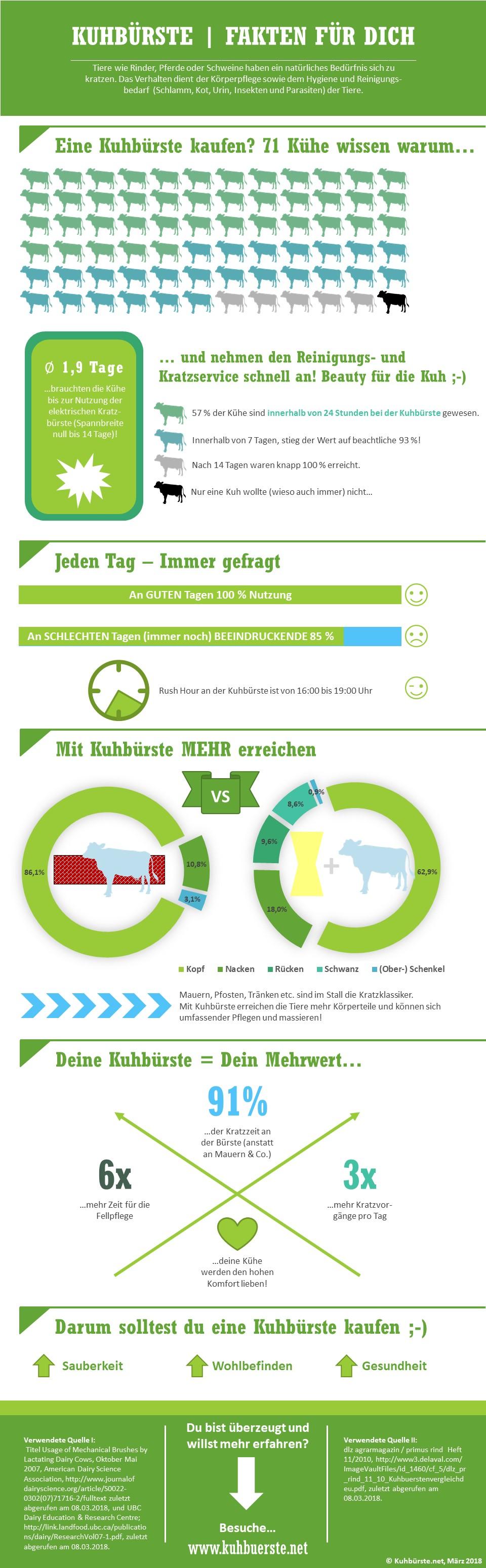 Kuh-Viehbürste Infografik